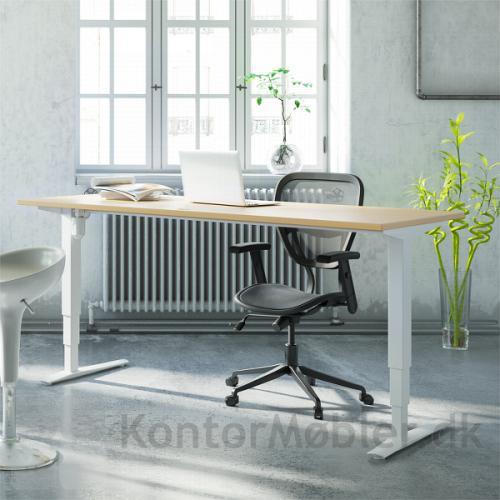Conset 501-43 hæve sænke bord med bordplade i bøg melamin
