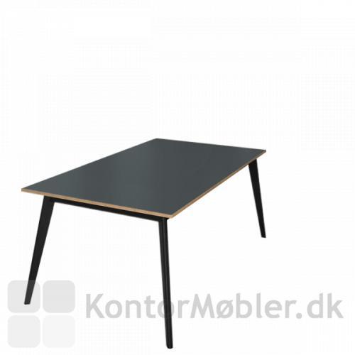 Madrid konferencebord med krydsfinerkant, kan bestilles helt ned til bordstørrelse 80x120 cm