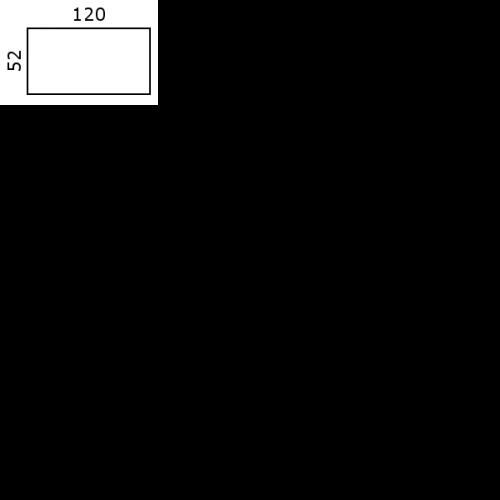 52x120 cm