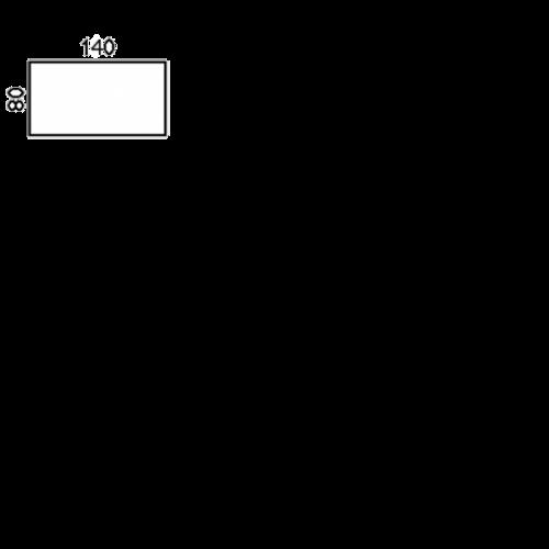 140x80 cm (0,-) (bord 4148/stel 1750)