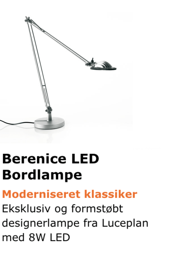 Berenice LED bordlampe