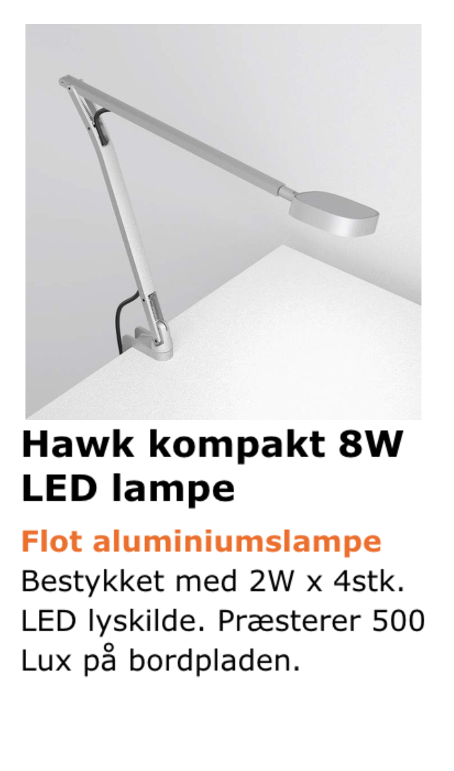 Hawk bordlampe