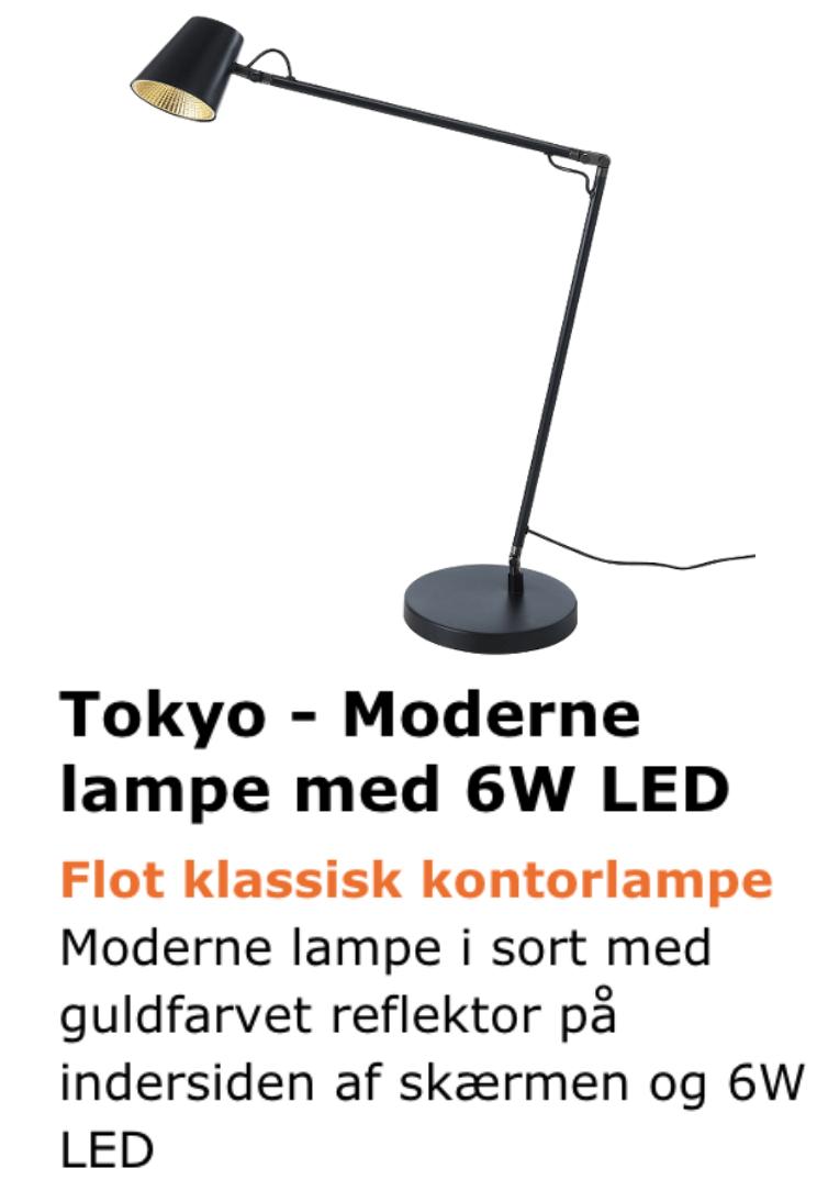 Tokyo bordlampe med 6W LED